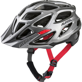 Alpina Mythos 3.0 Kask rowerowy, darksilver-black-red
